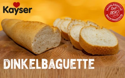 Neu: Dinkelbaguette – Jetzt probieren